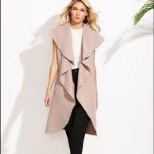 Jackets & Blazers - Pink Waterfall Oversize Coat (S)